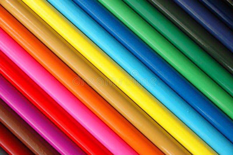 Download Kulöra blyertspennor fotografering för bildbyråer. Bild av teckning - 44017