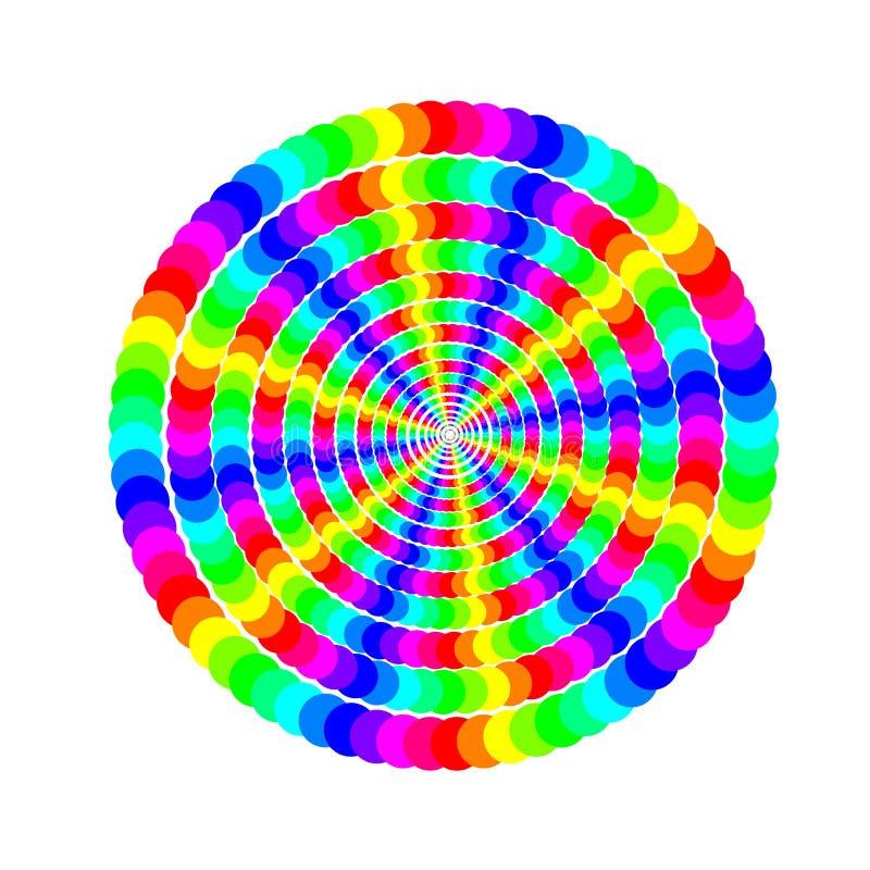 Kulöra cirklar stock illustrationer