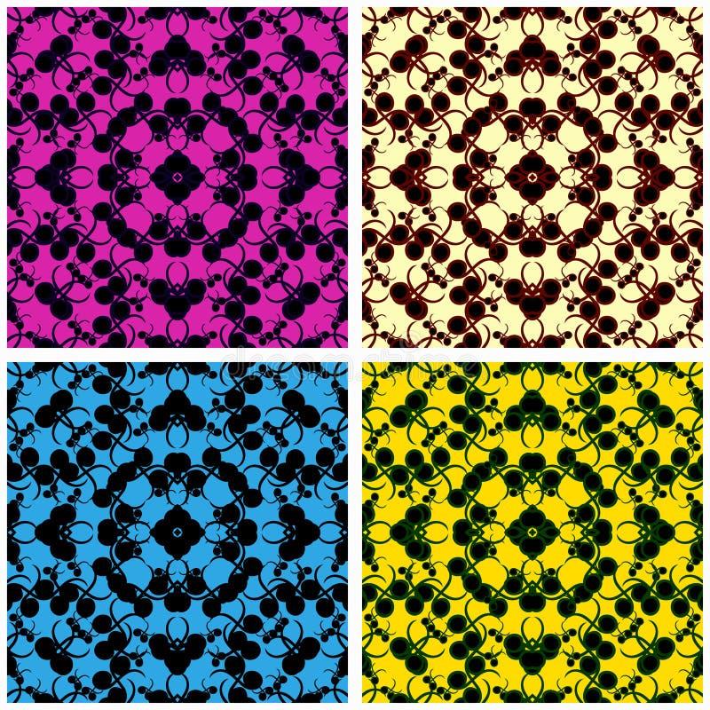 Kulöra cirklar och linjer vektorillustrationsamling royaltyfri illustrationer