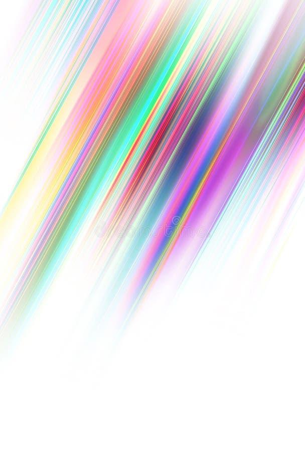 Kulöra diagonala band royaltyfri illustrationer