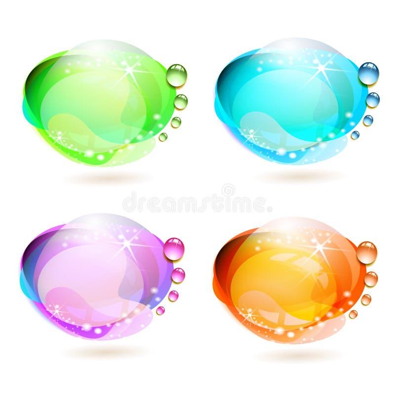 kulöra droppar för bakgrund vektor illustrationer