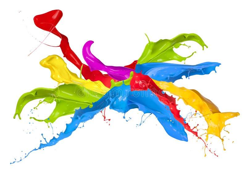 Kulöra färgstänk royaltyfri illustrationer