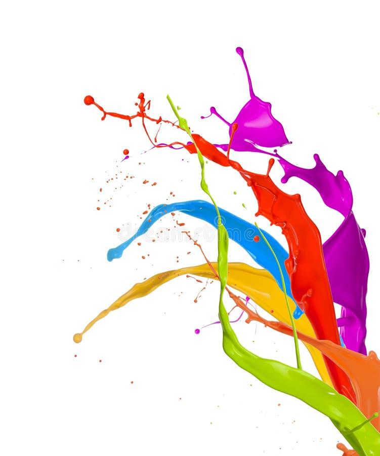 Kulöra färgstänk arkivfoton
