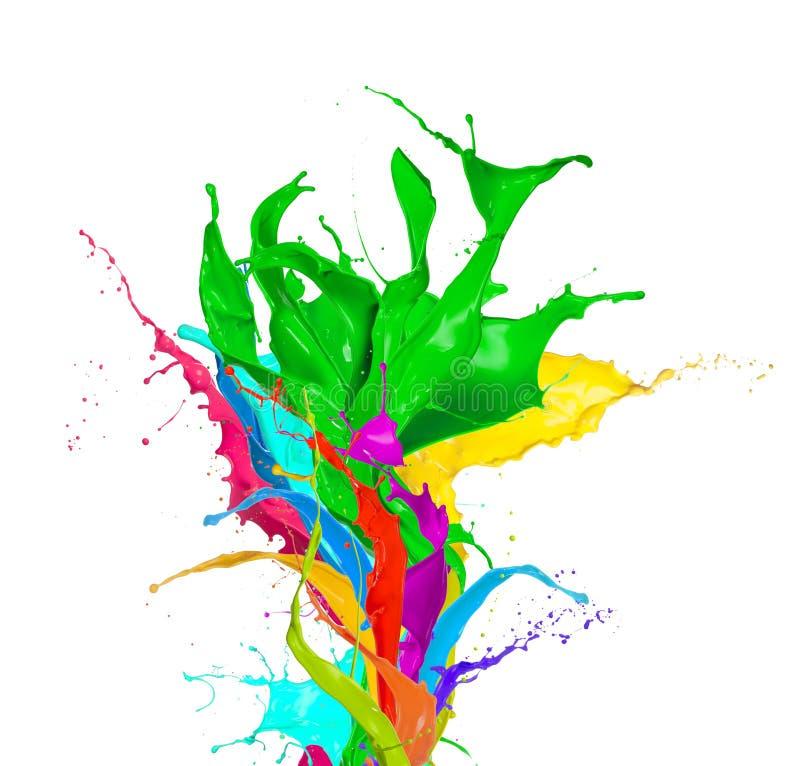 Kulöra färgstänk fotografering för bildbyråer