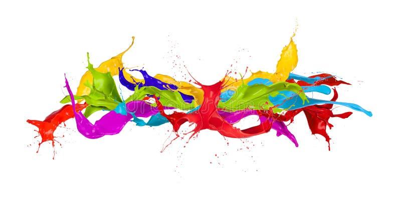 Kulöra färgstänk arkivfoto