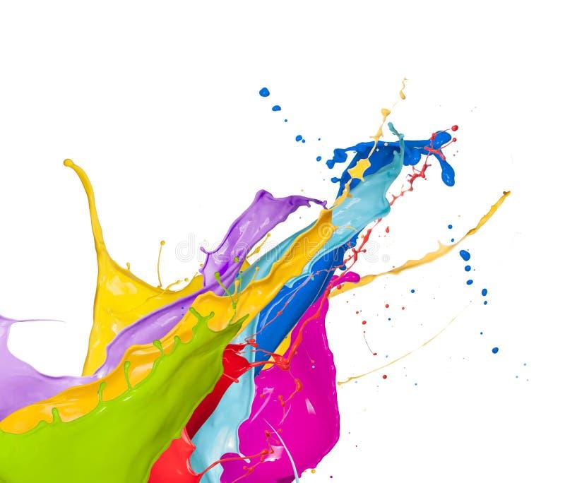 Kulöra färgstänk arkivbild