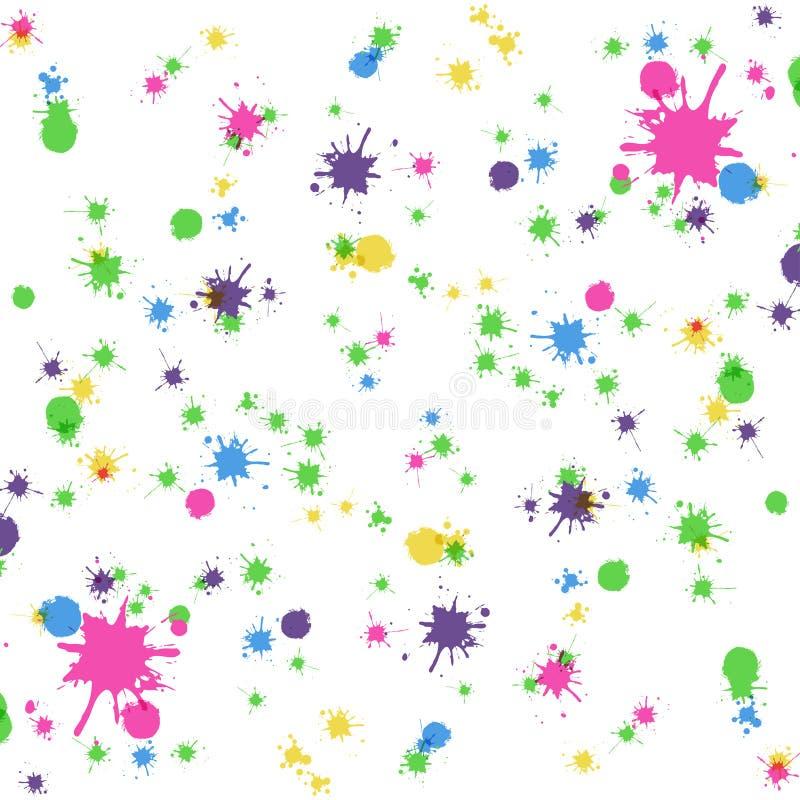 Kulöra fläckar på den vita bakgrunden vektor illustrationer