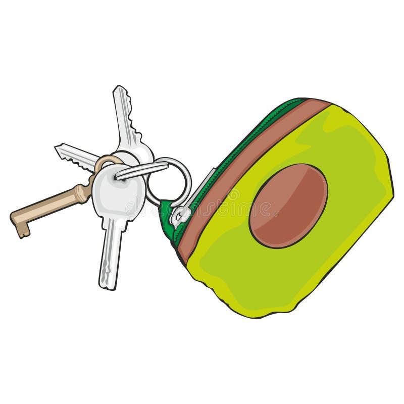 kulöra isolerade keyholdertangenter vektor illustrationer