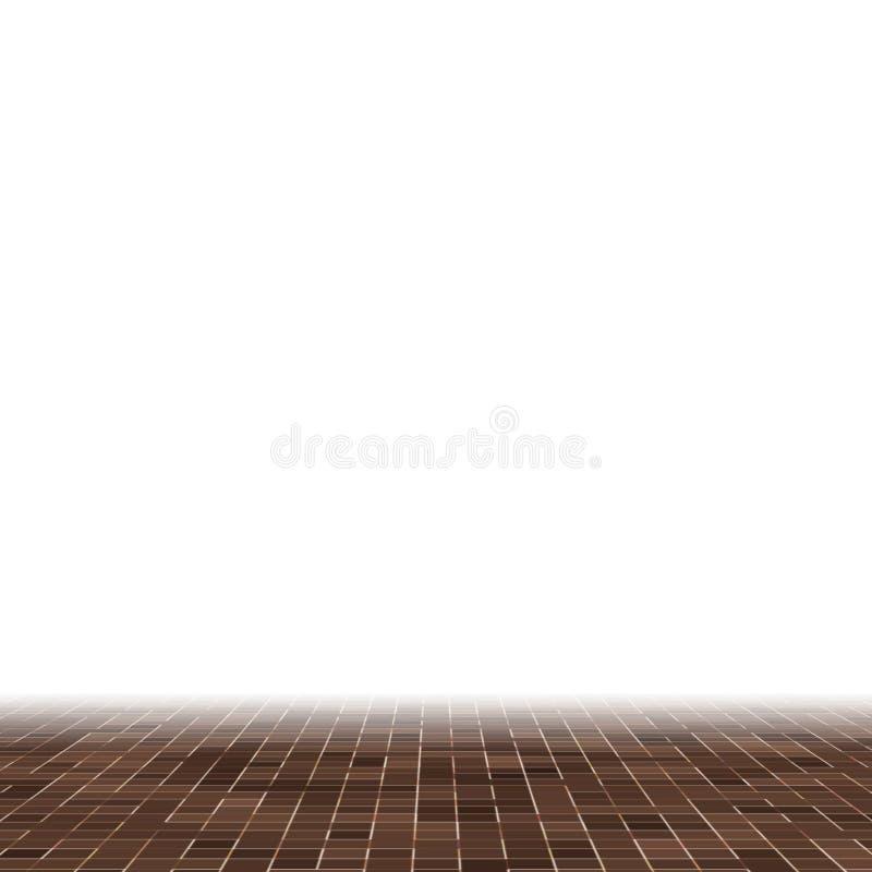 Kulöra keramiska stenar Abstrakt slät brun smyckad byggnad för Mosiac textur abstrakt keramisk mosaik abstrakt seamless royaltyfri illustrationer