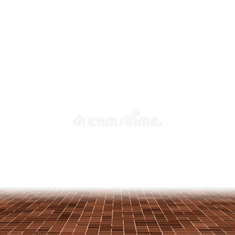Kulöra keramiska stenar Abstrakt slät brun smyckad byggnad för Mosiac textur abstrakt keramisk mosaik abstrakt seamless vektor illustrationer