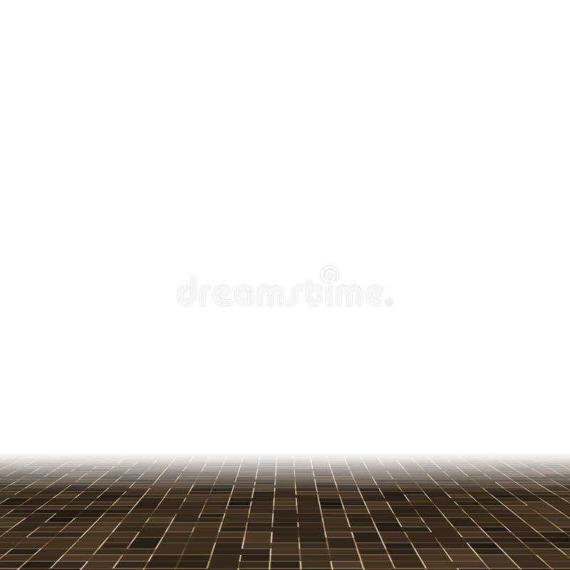 Kulöra keramiska stenar Abstrakt slät brun smyckad byggnad för Mosiac textur abstrakt keramisk mosaik abstrakt seamless stock illustrationer