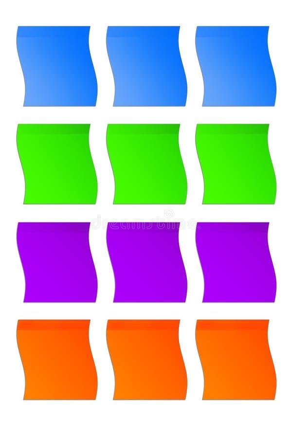 Kulöra klistermärkear arkivbilder