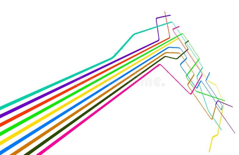 kulöra linjer royaltyfri illustrationer