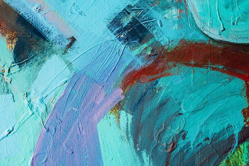 Kulöra målarfärgslaglängder abstrakt konstbakgrund Detalj av ett konstverk Samtida konst färgrik textur tjock målarfärg royaltyfria foton