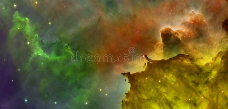 Kulöra moln i den Carina nebulosan stock illustrationer