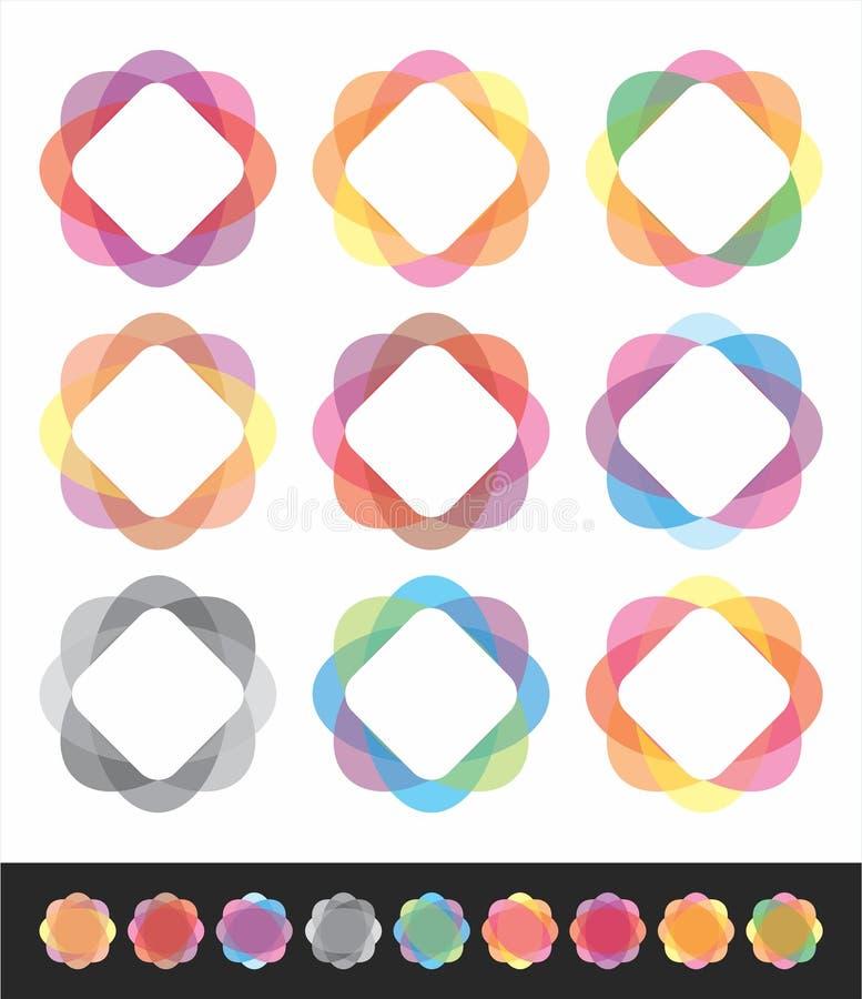 kulöra objekt stock illustrationer
