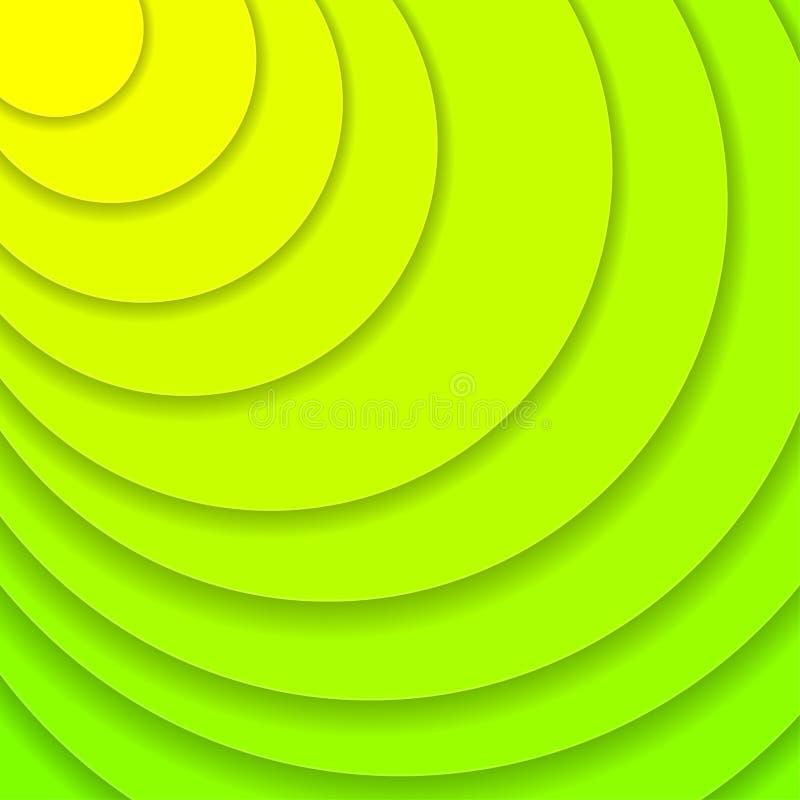 Kulöra pappers- vågor, abstrakta geometriska bakgrundstexturlager av djup i skuggor av ufogräsplan papperssnittstil stock illustrationer