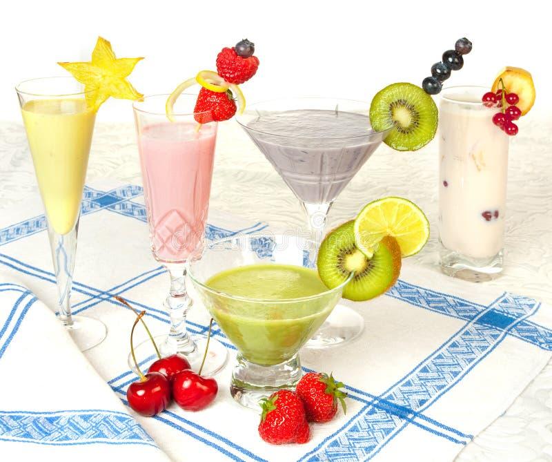 kulöra pastellfärgade smoothies royaltyfri foto
