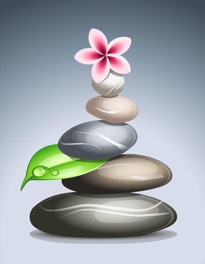kulöra pebbles royaltyfri illustrationer