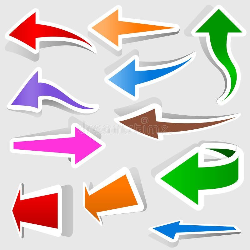 Download Kulöra pilar vektor illustrationer. Illustration av pekare - 27279831