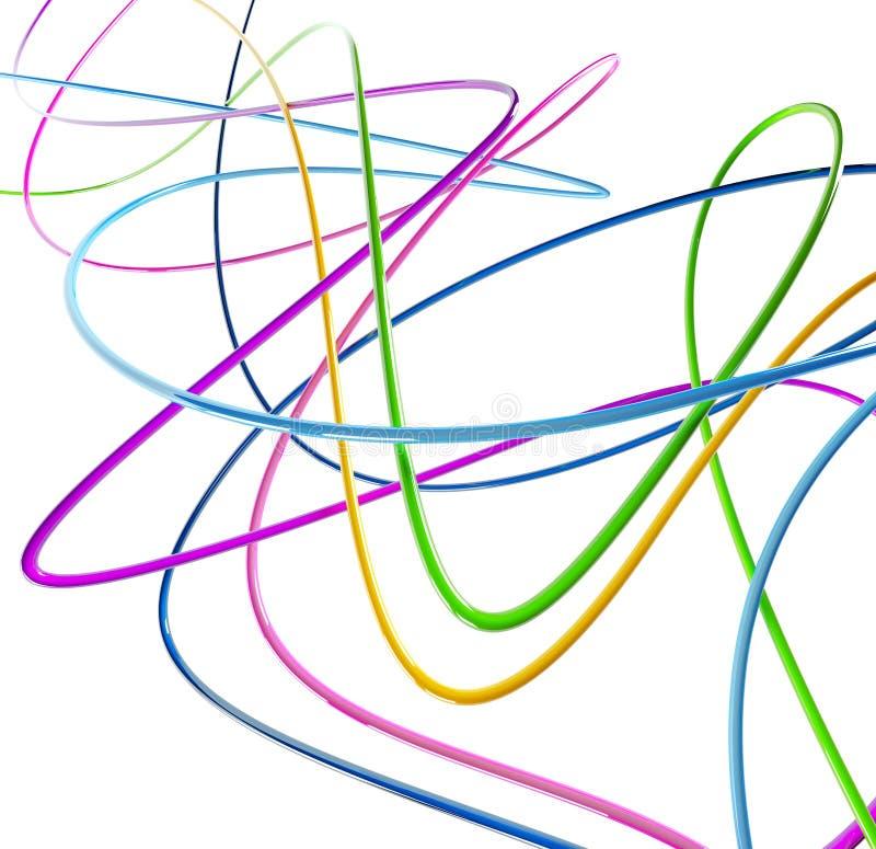 kulöra roliga trådar vektor illustrationer