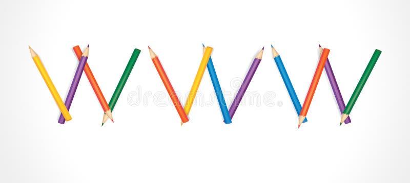 kulöra satta ihop blyertspennor www vektor illustrationer