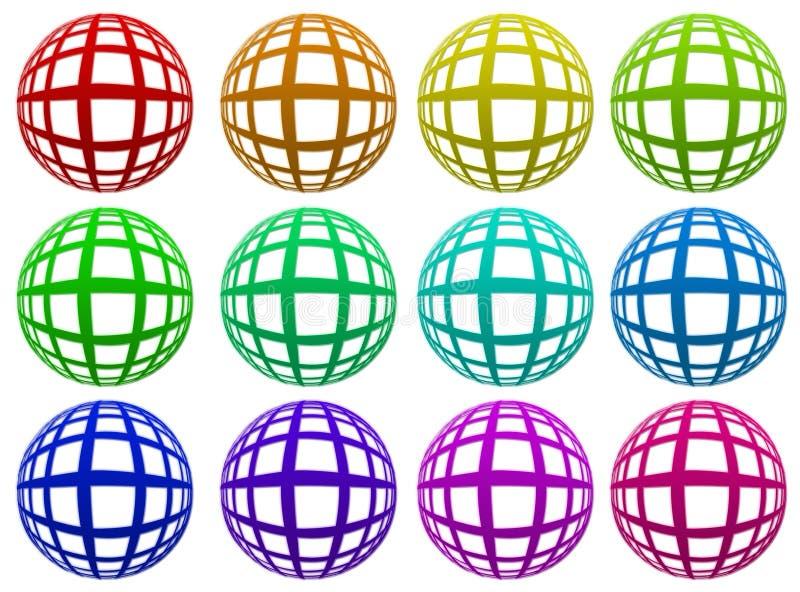 Kulöra spheres arkivfoto