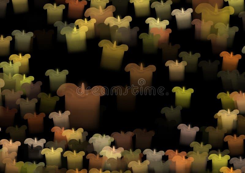Kulöra stearinljus beröm royaltyfria bilder