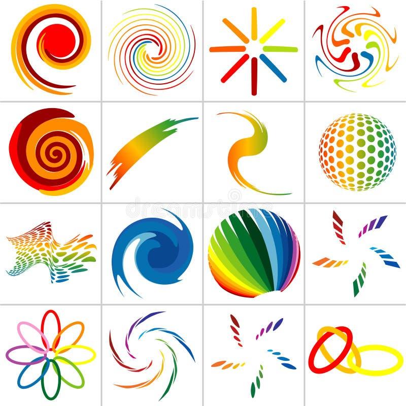 kulöra symboler vektor illustrationer