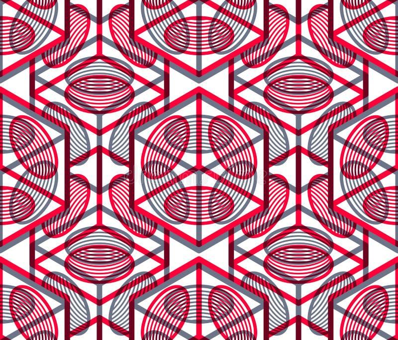 Kulört abstrakt begrepp väver samman den geometriska sömlösa modellen, EPS10 B stock illustrationer