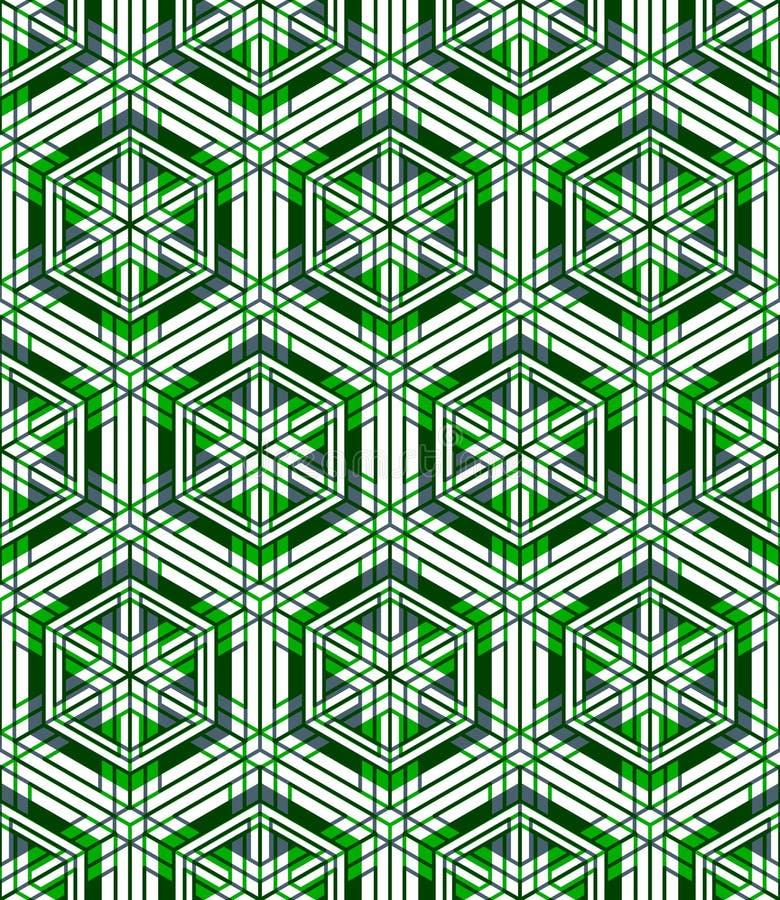 Kulört abstrakt begrepp väver samman den geometriska sömlösa modellen, EPS10 B royaltyfri illustrationer