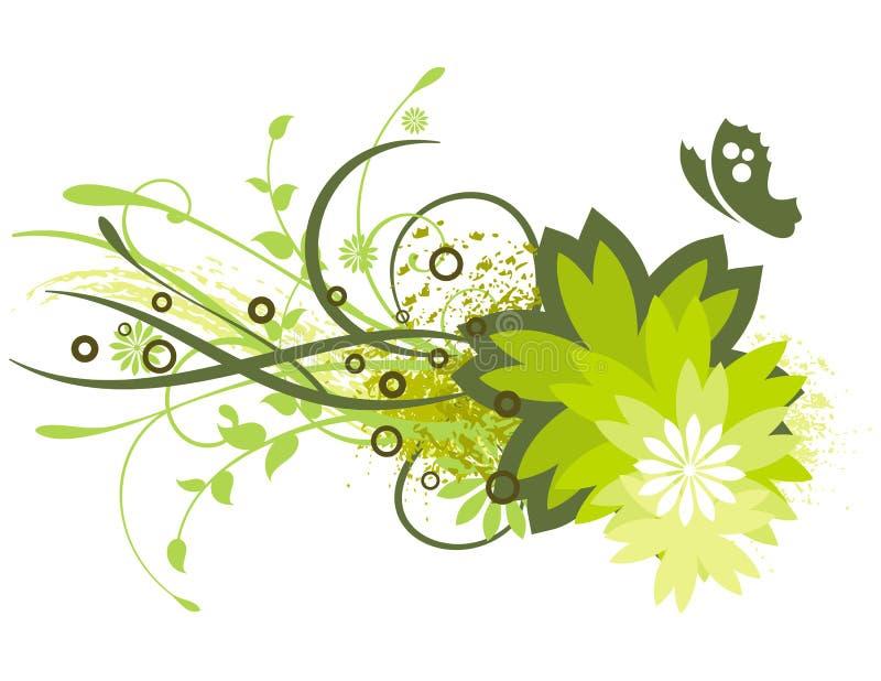 kulört blom- för bakgrund vektor illustrationer