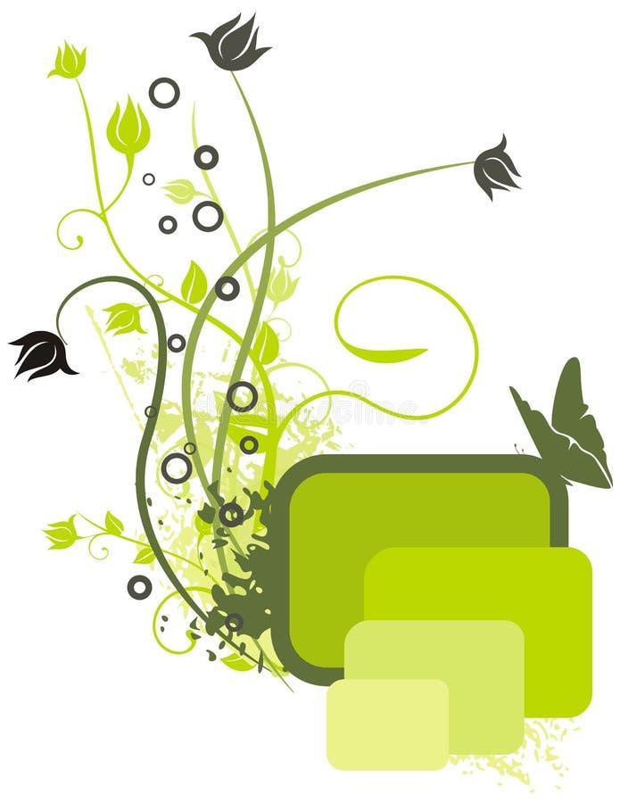 kulört blom- för bakgrund stock illustrationer