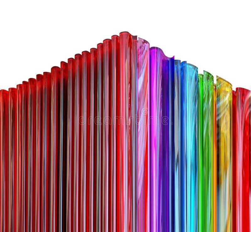 kulört dekorativt exponeringsglas vektor illustrationer