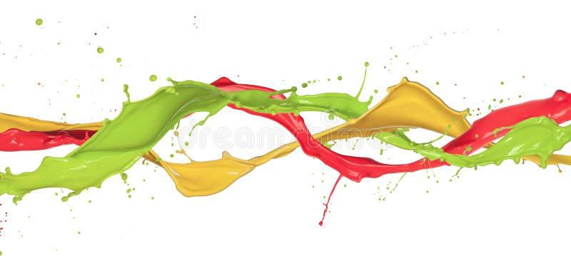 Kulöra färgstänk arkivbilder