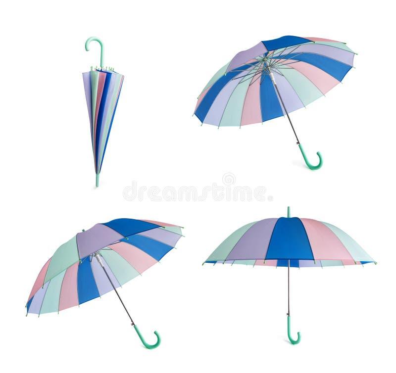 Kulört paraply för pastell arkivbilder