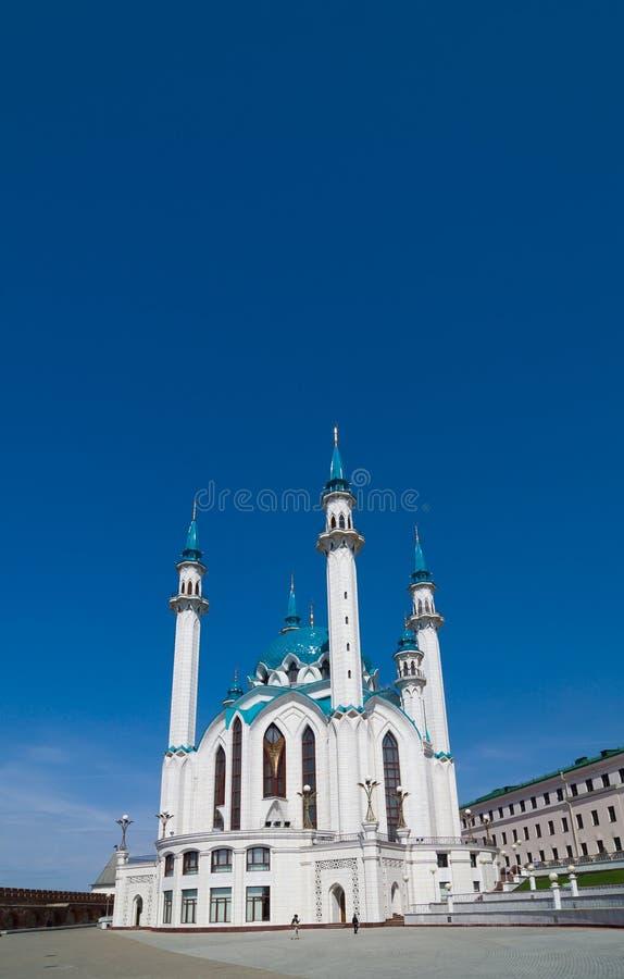 Kul谢里夫清真寺在喀山克里姆林宫 科教文组织世界遗产站点 免版税库存照片