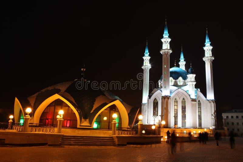 Kul谢里夫(Qolsherif、Kol谢里夫, Qol谢里夫)清真寺在喀山克里姆林宫 免版税图库摄影