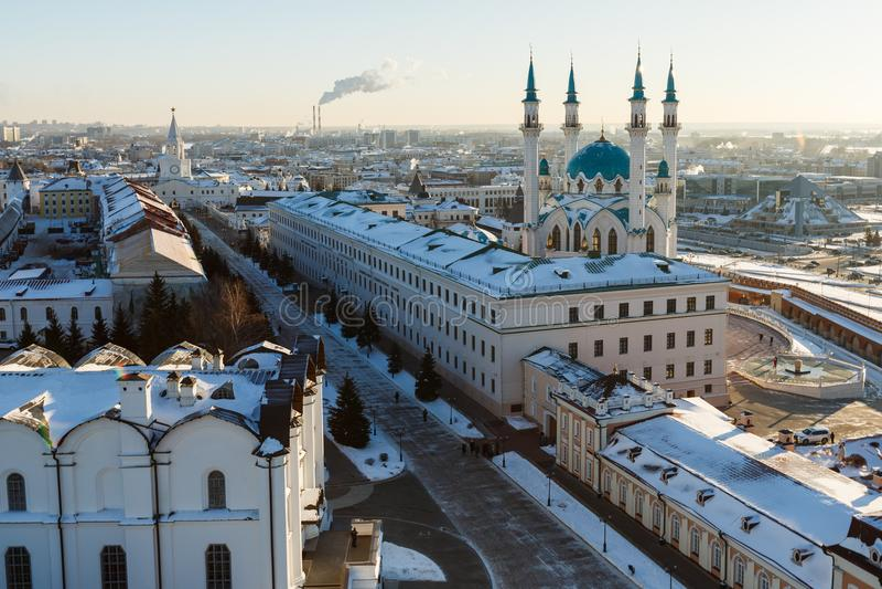 Kul meczet Sharif Kazan miasto, zdjęcie stock
