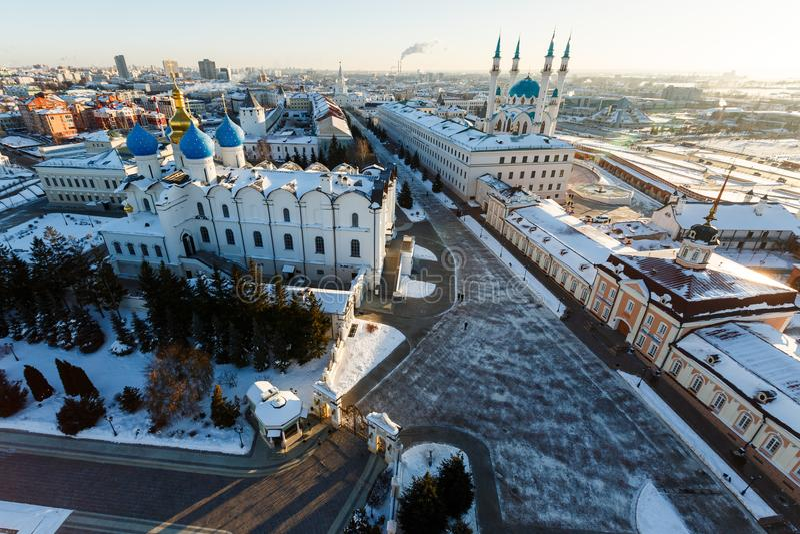 Kul meczet Sharif Kazan miasto, obraz royalty free