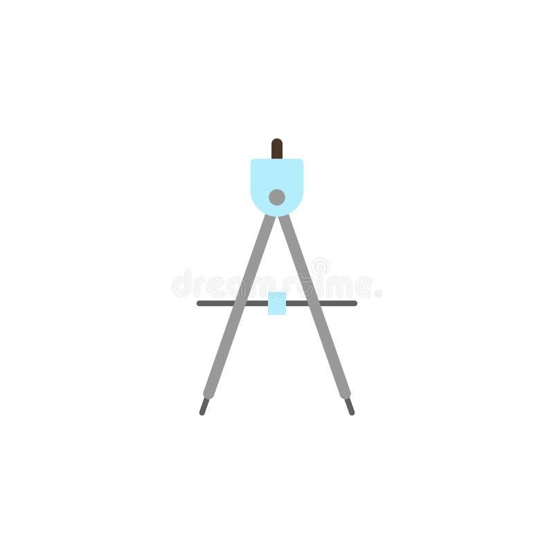 kul?r symbol f?r kompass Beståndsdel av utbildningsillustrationsymbolen H?gv?rdig kvalitets- grafisk design Tecken och symbolsaml vektor illustrationer
