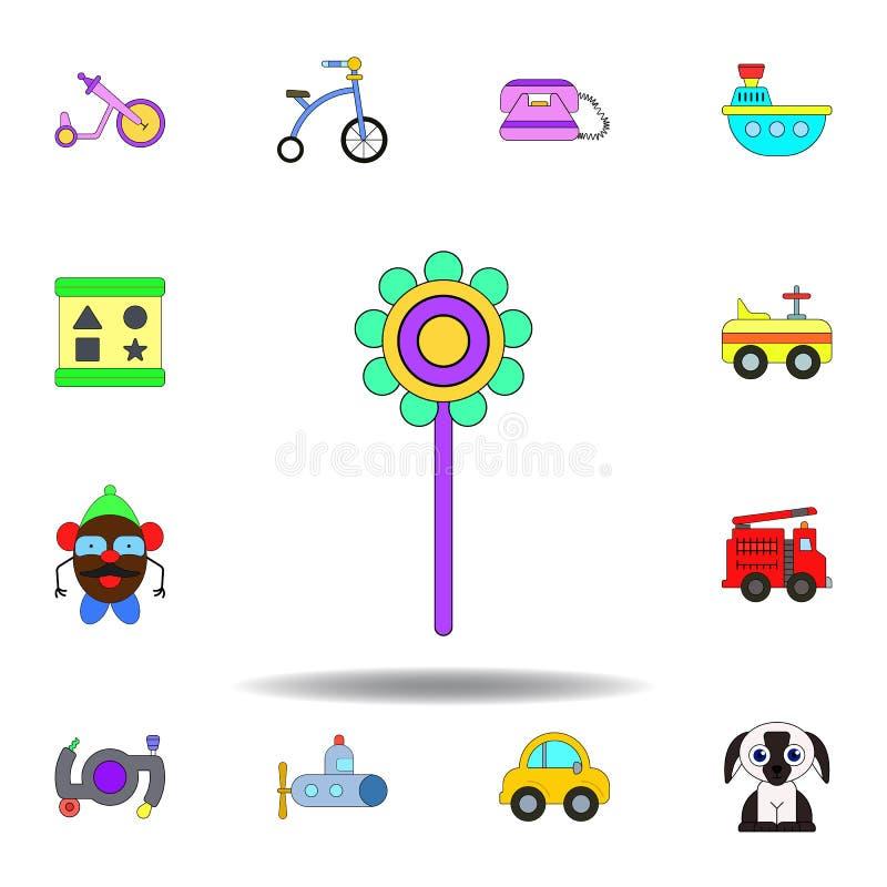 Kul?r symbol f?r tecknad filmpladderleksak ställ in av symboler för barnleksakerillustration tecknet symboler kan användas för re vektor illustrationer