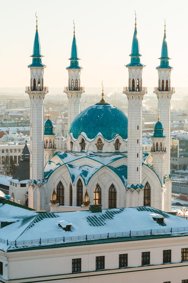 Kul Sharif清真寺 喀山市, 免版税库存照片