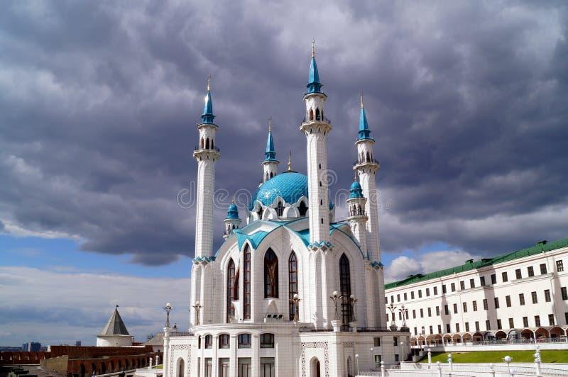 Kul Sharif Mosque in Kasan der Kreml Republik von Tatarstan Russland stockbild