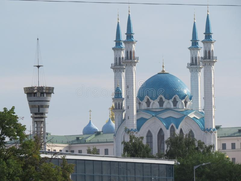 The main mosque of Kazan Kul Sharif in the Kremlin royalty free stock image