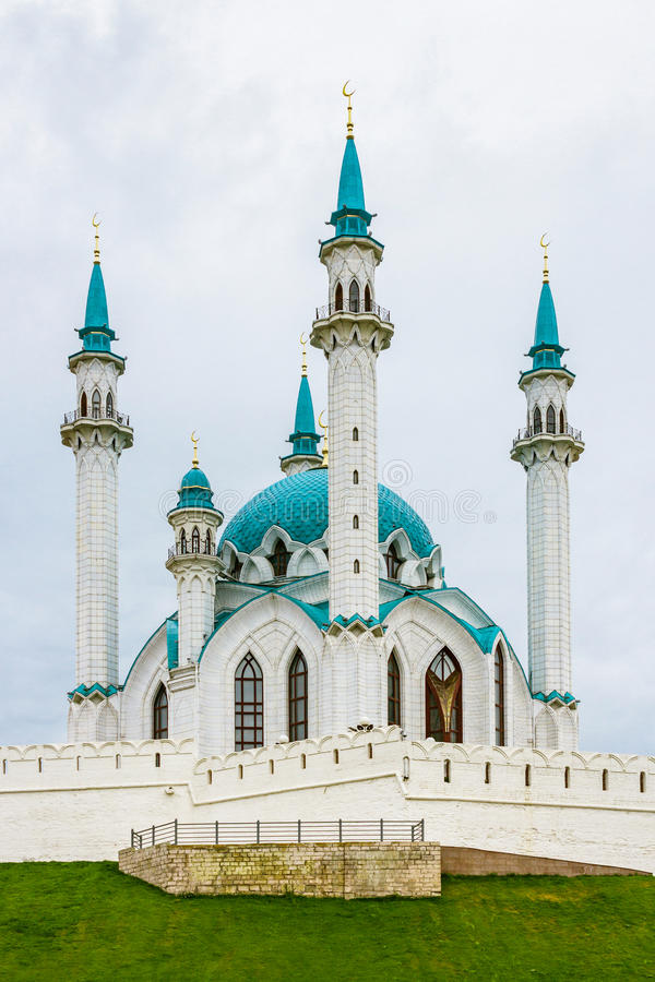 Kul sharif mosque. Kul-Sharif Mosque in Kazan Kremlin. Tatarstan. Russia royalty free stock images