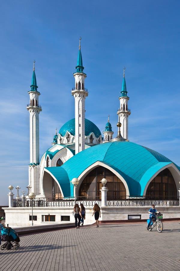 The kul sharif mosque. Kazan stock photo