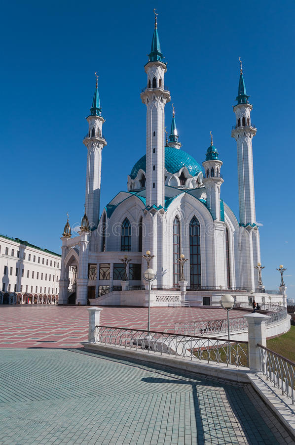 Kul Sharif mosque in Kremlin. Kazan. Russia. Kul Sharif mosque in Kazan Kremlin. Russia royalty free stock photography