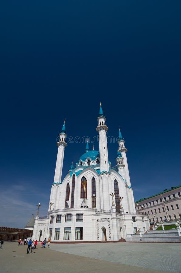 Kul Sharif Mosque no Kremlin de Kazan Local do património mundial do Unesco imagem de stock