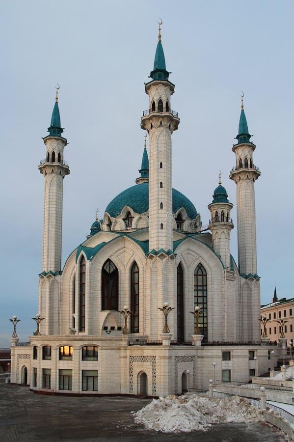 Kul Sharif Qolsherif, Kol Sharif, Qol Sharif Mosque i den Kazan Kreml Huvudsakliga Jama Masjid i republiken av Tatarstan royaltyfria foton